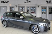 USED 2014 64 BMW 1 SERIES 3.0 M135I 3d 316 BHP FULL BLACK LEATHER SEATS + FULL BMW SERVICE HISTORY + PRO SATELLITE NAVIGATION + XENON HEADLIGHTS + 18 INCH ALLOYS + DAB RADIO + AUTOMATIC AIR CONDITIONING