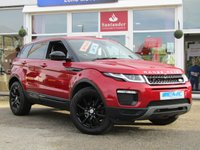 USED 2015 65 LAND ROVER RANGE ROVER EVOQUE 2.0 ED4 SE TECH 5d 148 BHP STUNNING 1 OWNER, £30 ROAD TAX, 65 PLATE, RANGE ROVER EVOQUE, 2.0 ED4 SE TECH 148 BHP. Finished in a fiery FIRENZE RED with contrasting Ebony Heated Leather Trim. This great looking, Fun to drive and comfortable SUV has features which include, SAT NAV, DAB, HEATED LEATHER, FRONT FOG LIGHTS and Tinted Windows.