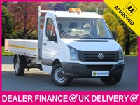 USED 2016 16 VOLKSWAGEN CRAFTER 2.0 TDI DROPSIDE LWB CR35 140 BHP 3 SEATS 6 SPEED CRUISE CONTROL BLUETOOTH DROPSIDE