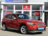 """USED 2015 15 BMW X1 2.0 XDRIVE18D XLINE 5d 141 BHP STUNNING, 1 Owner, LOW MILEAGE, BMW X1 X-DRIVE 2.0D X-LINE EDITION. Finished in a special edition VALENCIA ORANGE Pearl Metallic with contrasting NEVADA Full Heated Leather. This BMW X1 is an excellent choise if you want or need a practical SUV. Quality brand with plush interior, spacious, comfortable and fun to drive. Features include Front and Rear Park sensors, Cruise Control, DAB, 18"""" Alloys, 2 KEYS and B/Tooth."""