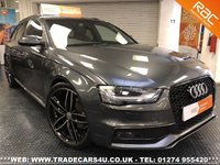 USED 2013 13 AUDI A4 AVANT 2.0 TDI (177) S LINE BLACK EDITION DIESEL ESTATE UK DELIVERY* RAC APPROVED* FINANCE ARRANGED* PART EX