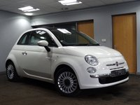 USED 2012 12 FIAT 500 1.2 LOUNGE 3d 69 BHP PANORAMIC ROOF++LOW TAX++