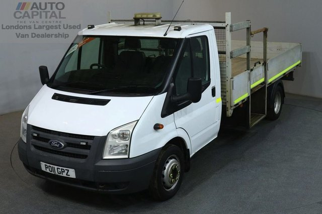 2011 11 FORD TRANSIT 2.4 350 LWB 100 BHP TWIN WHEEL DROPSIDE LORRY REAR BED 12 FOOT AND 10 INCHES