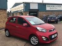 2014 KIA PICANTO 1.2 2 ECODYNAMICS 5 Door Signal Red Metallic 84 BHP £5695.00