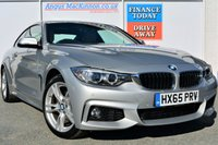 USED 2015 65 BMW 4 SERIES 3.0 430D XDRIVE M SPORT 2d 4x4 AUTO with 255 BHP Performance ONE REGISTERED KEEPER