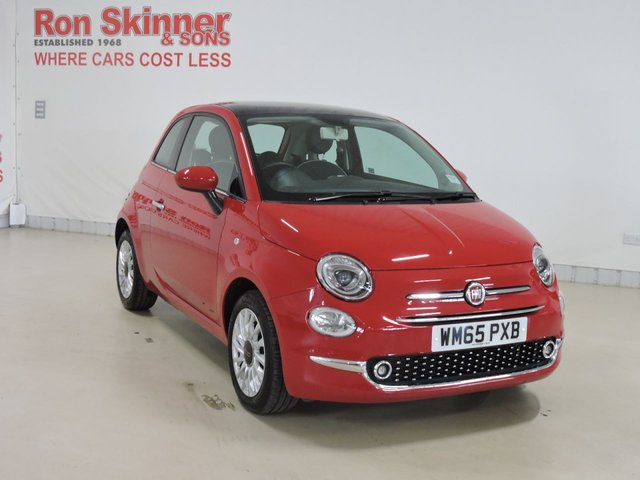 View our 2015 65 FIAT 500 (116)   1.2 LOUNGE 3d 69 BHP