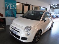 """USED 2013 63 FIAT 500 1.2 S 3d 69 BHP This £30 a year tax Fiat 500 is finished in Bossanova White with Black leather and suede seats and white & red logo and etching. It is fitted with power steering, remote locking, electric windows and mirrors, start stop technology, Bluetooth & Media capability, grey 15"""" alloy wheels, CD Stereo with USB port and more. It has been Fiat Dealer & privately owned and comes with a service history. We will supply the car with a service and a September 2019 Mot. Finance and extended warranties available"""