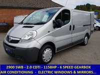 2010 VAUXHALL VIVARO 2900 115 SWB WITH AIR CON & FULL ELECTRIC PACK £5595.00