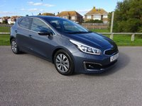 USED 2017 17 KIA CEED 1.6 CRDI 3 ISG 5 Dr 134 BHP SAT NAV 2 OWNER, PLANET BLUE