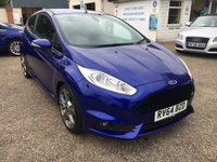 USED 2014 64 FORD FIESTA 1.6 ST-3 3d 180 BHP VOICE COMM / CRUISE CONTROL / KEYLESS ENTRY / HEATED SEATS