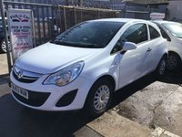 USED 2013 63 VAUXHALL CORSA 1.0 S ECOFLEX 3d 64 BHP White, 59000 miles, low insurance, great value, must be seen. £30.00 road tax.