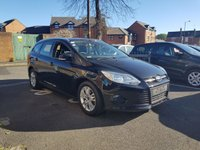 USED 2013 63 FORD FOCUS 1.6 TDCI TURBO DIESEL 95BHP EDGE ESTATE  ,CHEAP TO RUN, LOW CO2 EMISSIONS , LOW ROAD TAX AND EXCELLENT FUEL ECONOMY!..GOOD SPECIFICATION INCLUDING AIR CONDITIONING AND AUX INPUT!! 25882 MILES FROM NEW!!