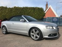 2008 AUDI A4 2.0 TDI CABRIOLET S LINE 2d AUTOMATIC..A VERY LOW MILEAGE EXAMPLE £6000.00