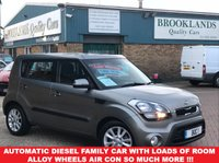 USED 2012 61 KIA SOUL 1.6 2 CRDI 5d AUTO Platinum Silver Metallic 126 BHP Automatic Diesel Family Car With Loads Of Room, Alloy Wheels,Air Con,So Much More !!!