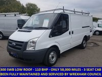 2008 FORD TRANSIT 110 300 SWB LOW ROOF DIRECT FROM WREXHAM COUNCIL £4995.00