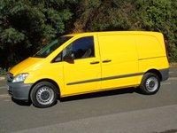 2014 MERCEDES-BENZ VITO 113 2.1CDI 136 BHP SWB LOW ROOF PANEL VAN £5350.00