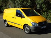 USED 2014 14 MERCEDES-BENZ VITO 113 2.1CDI 136 BHP SWB LOW ROOF PANEL VAN +AIR-CON+C/CONTROL+TWIN DOORS+