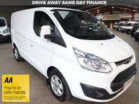 "USED 2016 16 FORD TRANSIT CUSTOM 2.2 290 LIMITED L1 H1 LR SWB VAN 125 BHP -LOW MILEAGE - ""YOU'RE IN SAFE HANDS"" - AA DEALER PROMISE"
