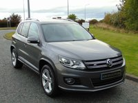 USED 2013 13 VOLKSWAGEN TIGUAN 2.0 R LINE TDI BLUEMOTION TECHNOLOGY 4MOTION 5d 139 BHP FLAT BOTTOM STEERING WHEEL, BLUETOOTH