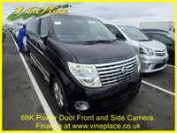 USED 2005 05 NISSAN ELGRAND  Highway Star 3.5  Automatic,8 Seats,Rear Monitor, Front and Rear Reverse Camera +68K.PEARL BLACK+REAR MONITOR+