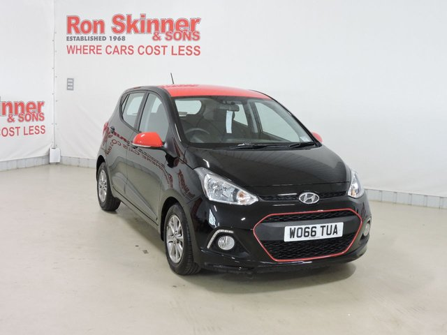 View our 2017 66 HYUNDAI I10 1.2 PREMIUM 5d 86 BHP red roof