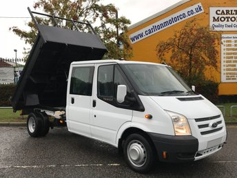 2013 FORD TRANSIT 125 T350 LWB D/CAB TIPPER [ NEW BUILD BODY ] DRW  LOW MILEAGE £SOLD