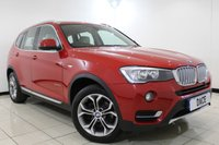 USED 2015 15 BMW X3 3.0 XDRIVE30D XLINE 5DR AUTOMATIC 255 BHP 1 Owner Full Service History BMW SERVICE HISTORY + HEATED LEATHER SEATS + SAT NAVIGATION + 360 VIEW CAMERA + PARKING SENSOR + BLUETOOTH + CRUISE CONTROL + CLIMATE CONTROL + MULTI FUNCTION WHEEL + 18 INCH ALLOY WHEELS