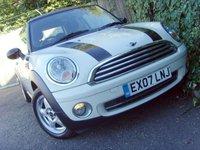 2007 MINI HATCH COOPER 1.6 COOPER 3d 118 BHP £3499.00