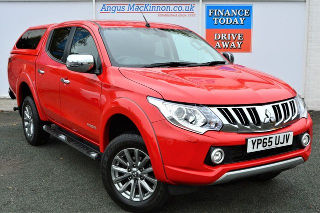 2015 65 MITSUBISHI L200 2.4 DI-D 4X4 WARRIOR Double Cab 5 Seat Pickup AUTO with Rear Canopy Towbar Side Steps