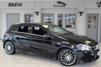 USED 2014 64 MERCEDES-BENZ A CLASS 2.1 A200 CDI AMG SPORT 5d 136 BHP HALF BLACK LEATHER SEATS + FULL MERCEDES BENZ SERVICE HISTORY + 18 INCH ALLOYS + £30 ROAD TAX + CRUISE CONTROL + AIR CONDITIONING