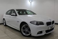 USED 2015 15 BMW 5 SERIES 2.0 520D M SPORT 4DR AUTOMATIC 188 BHP Full Service History FULL BMW SERVICE HISTORY + HEATED LEATHER SEATS + SAT NAVIGATION + PARKING SENSOR + BLUETOOTH + CRUISE CONTROL + MULTI FUNCTION WHEEL + CLIMATE CONTROL + 18 INCH ALLOY WHEELS