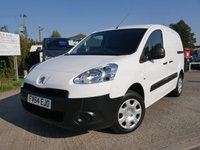 USED 2014 64 PEUGEOT PARTNER 1.6 HDI S L1 850 1d 89 BHP LOW MILES + ONE FORMER KEEPER, LOW RUNNING COSTS