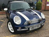 2003 MINI HATCH COOPER 1.6 COOPER 3d 114 BHP £1995.00