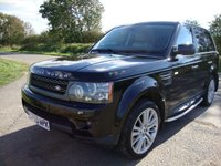 USED 2009 59 LAND ROVER RANGE ROVER SPORT 3.0 TDV6 HSE 5d AUTO 245 BHP Range Rover Sport, 3.0 TDV6 HSE comand shift auto in Santorini black with ivory leather interior