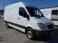 USED 2012 61 MERCEDES-BENZ SPRINTER 313 CDI MWB HI ROOF, 130 BHP [EURO 5], 6 SPEED, CRUISE CONTROL