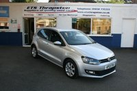 2013 VOLKSWAGEN POLO 1.2 MATCH EDITION 5d 69 BHP £5950.00