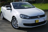 USED 2013 13 VOLKSWAGEN GOLF 1.6 SE TDI BLUEMOTION TECHNOLOGY 2d 104 BHP VERY DESIRABLE CONVERTIBLE*** £0 DEPOSIT FINANCE