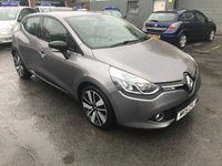 2015 RENAULT CLIO 0.9 DYNAMIQUE S MEDIANAV ENERGY TCE S/S 5DOOR 90 BHP IN METALLIC GREY WITH 62000 MILES. £6499.00