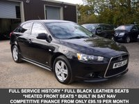 USED 2009 09 MITSUBISHI LANCER 2.0 DI-D GS4 5 Door Hatchback In Black With Full Black Leather