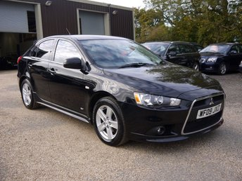 2009 MITSUBISHI LANCER 2.0 DI-D GS4 5 Door Hatchback In Black With Full Black Leather £3995.00