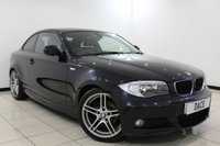 USED 2012 62 BMW 1 SERIES 2.0 120D SPORT PLUS EDITION 2DR 175 BHP + FULL LEATHER INTERIOR + HEATED SPORT SEATS + PARK DISTANCE CONTROL + LIGHT PACKAGE + USB/AUX PORTS + DAB RADIO + 17 INCH ALLOY WHEELS +