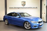USED 2016 16 BMW 4 SERIES GRAN COUPE 3.0 430D M SPORT GRAN COUPE 4DR AUTO 255 BHP sat nav, full leather  ESTORIL BLUE METALLIC WITH FULL BLACK LEATHER INTERIOR + PRO SATELLITE NAVIGATION + BLUETOOTH + CRUISE CONTROL + HEATED SPORT SEATS + PARK DISTANCE CONTROL + XENON LIGHTS + DAB RADIO + 19 INCH ALLOY WHEELS