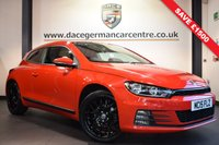 USED 2015 15 VOLKSWAGEN SCIROCCO 1.4 TSI BLUEMOTION TECHNOLOGY 2DR 123 BHP 1 Owner  * WAS £12,470 SAVE £2,000 * RACING RED WITH GREY UPHOLSTERY + FULL VW SERVICE HISTORY + 1 OWNER FROM NEW + BLUETOOTH + SPORT SEATS + DAB RADIO + HEATED MIRRORS + BRAND NEW 18 INCH ALLOY WHEELS