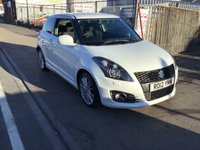 USED 2012 12 SUZUKI SWIFT 1.6 SPORT 3d 134 BHP White sport, alloys, air/con, 59000 miles, super looking car.