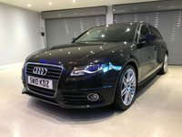"""USED 2010 10 AUDI A4 AVANT TDI S LINE SPECIAL EDITION 19"""" RS4 ALLOY WHEELS + BANG & OLUFSEN SOUND SYSTEM"""