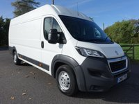 USED 2016 16 PEUGEOT BOXER 435 L4H2 PROFESSIONAL 2.0 BLUE HDI  130 BHP Popular Top Of Range Model With Balance Of Manufacturers Warranty Remaining