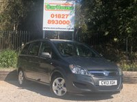 USED 2013 13 VAUXHALL ZAFIRA 1.6 EXCLUSIV 5dr Air Con, 7 Seats, Low Mileage