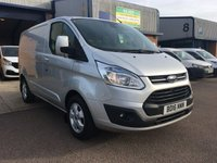 2016 FORD TRANSIT CUSTOM 2.2 290 LIMITED LR P/V 1d 124 BHP £12650.00