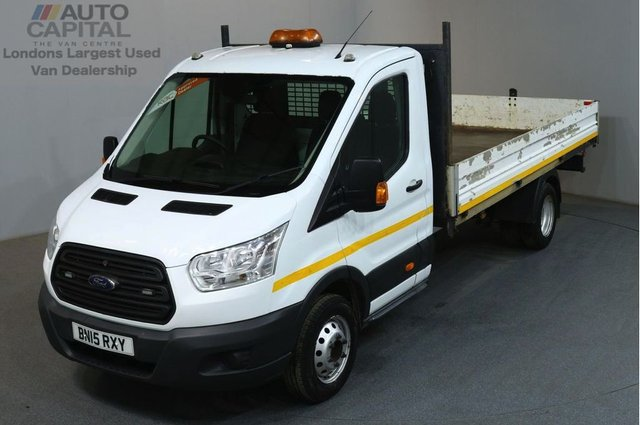 2015 15 FORD TRANSIT 2.2 350 124 BHP EXTRA LWB TWIN WHEEL S/CAB DROPSIDE LORRY REAR BED LENGTH 13 FOOT & 6 IN