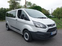 USED 2013 63 FORD TRANSIT CUSTOM 2.2 310 L2 LWB 9 SEAT MINIBUS 2.2TDCI 100 BHP Direct From Leasing Company With Low Mileage And Full Service History